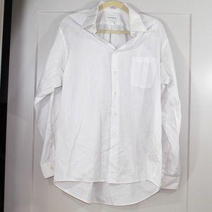 Van Huesen white button down shirt